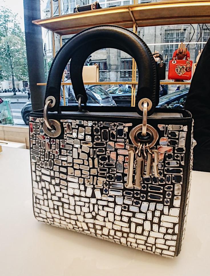 Сумка Lady Dior с зеркальной мозаикой