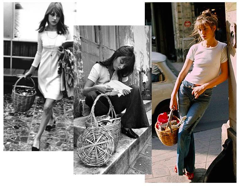 Джейн Биркин и ее любимая сумка-корзинка