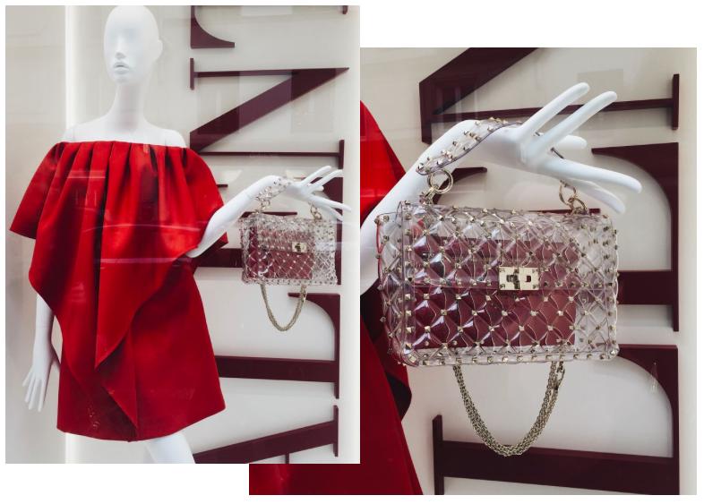 Valentino Rockstud Spike medium chain bag