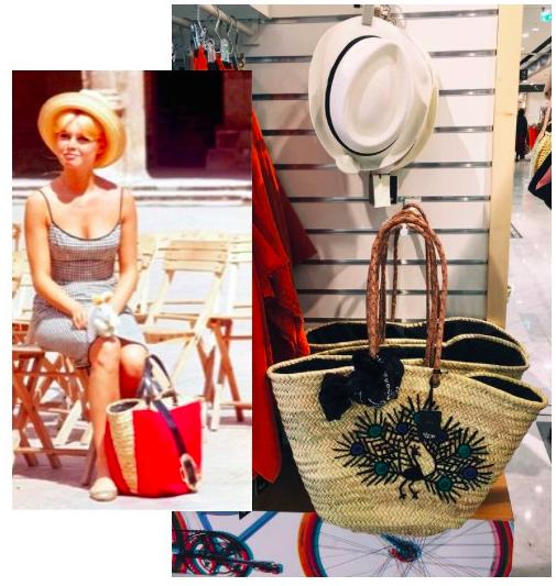 Бриджит Бардо и ее идея плетеной сумки