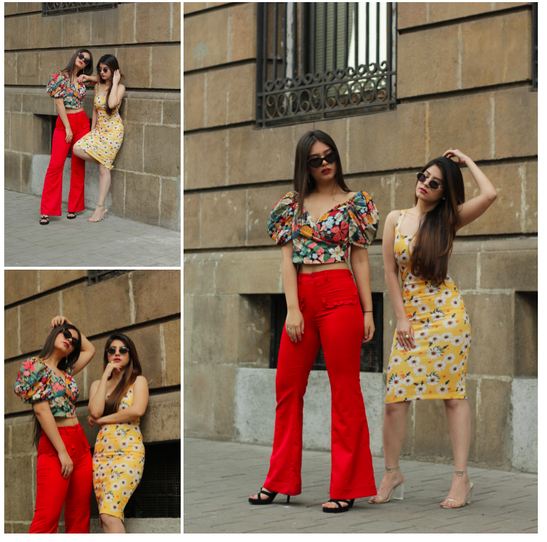 Belts and Boots - Kritika & Harshita - flower trend