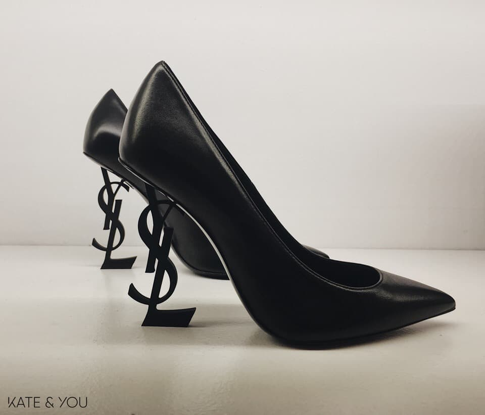 YSL 'OPYUM' 110 with heel in black and in matte leather
