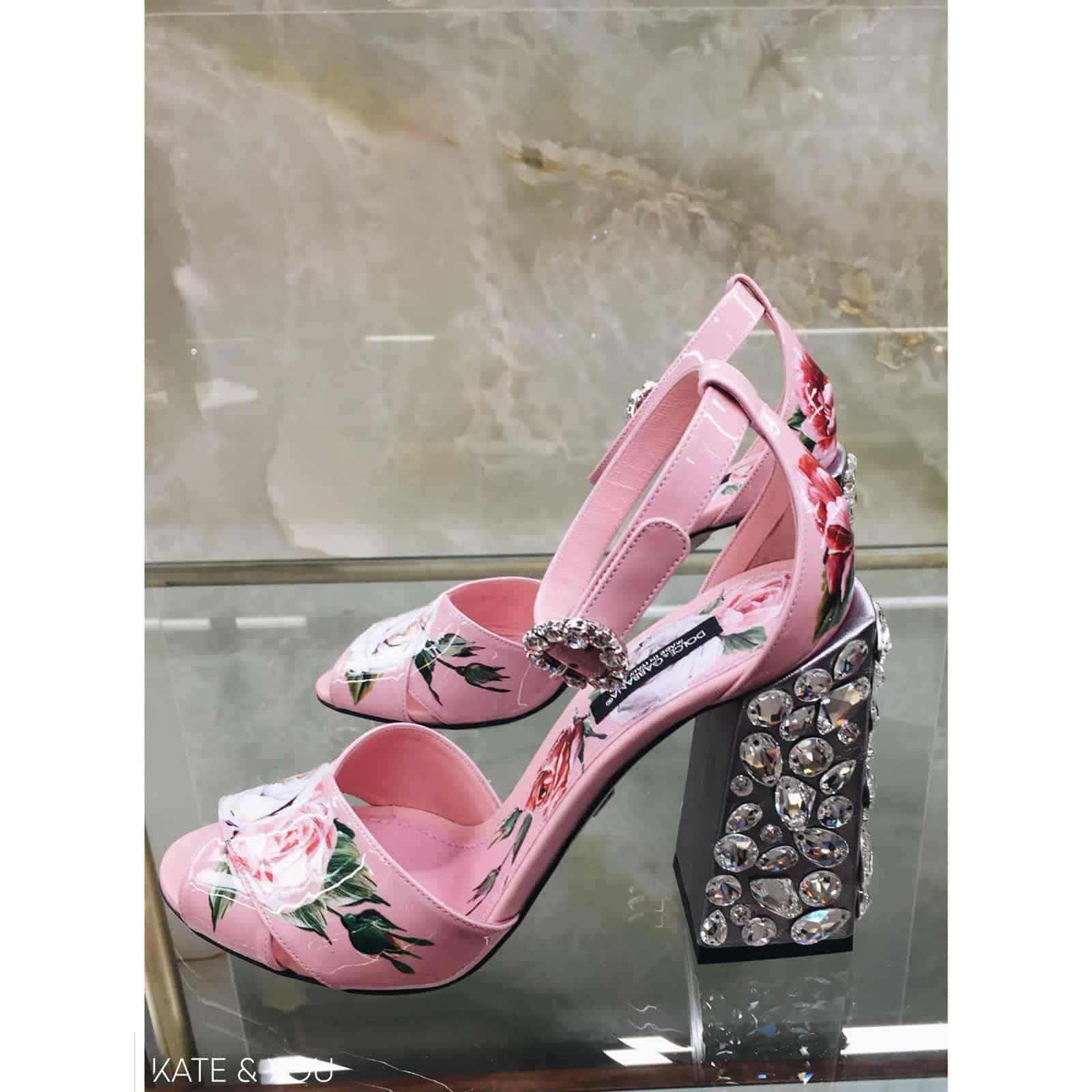DG sandals - pink flowers